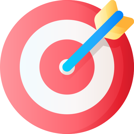 Aim to reach your goal or target